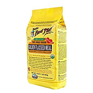 Bob's Red Mill Organic Golden Flaxseed Meal, 16-Ounce Packages (Pack of 4)