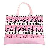 ハンドメイド感覚のKidsレッスンバッグ ピアノの上で踊る黒猫ワルツ(ピンク) 日本製 N0222600
