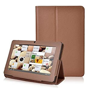 Eforcase Slim Fit Folio Stand PU Leather Case Cover for 7 Inch Android Tablet(Q88) - More Color Options (Brown) from Eforcase
