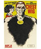 Black Fake Hairy Chest Hair for Hunk 60s 70s 80s Fancy Dress Costumes Accessory