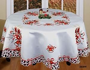 Amazon.com: Holiday Christmas Embroidered Poinsettia ...