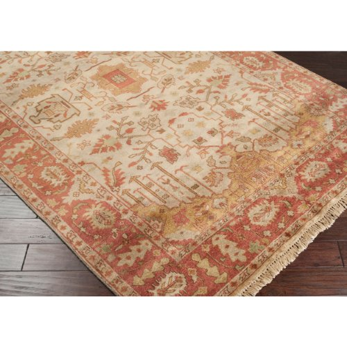 Surya Adana IT-1181 Classic Hand Knotted 100% Semi-Worsted New Zealand Wool Carnelian 2' x 3' Traditional Accent Rug