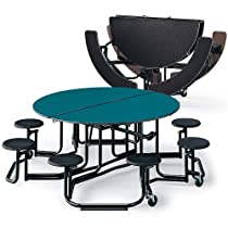 Hot Sale Ki Round Folding Tables - 5' Diameter - Seats 4-8 Individuals - Red Wave