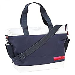 adidas SC Tote S Carry Polyester Bag (White/Blue)