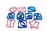 CHRISTMAS SALE - Bread & Sandwich Cutters - Set of 10 Crust & Cookie Cutter Shapes for Kids - Butterfly, Star, Dolphin, Elephant, Heart, Puzzle and Star in Fun and Sturdy Gift