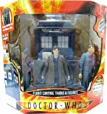 FLIGHT CONTROL TARDIS WITH 3 FIGURES (BOXED SET)