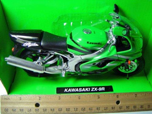 Kawasaki Motorcycle ZX-9R Green 1:12 NewRay