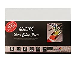Brustro Watercolour Papers 300 GSM A4 (Pack of 18+6 free Sheets)