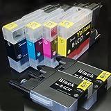 【むさしのメディアオリジナル】 ブラザー互換 LC17-4PK+BK2 4色+黒2個インクカートリッジ [フラストレーションフリーパッケージ(FFP)]