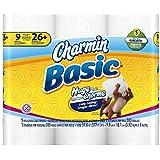 Charmin Basic Toilet Paper 9 Family Rolls