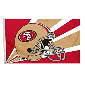 NFL San Francisco 49Ers 3-by-5 Foot Helmet Flag by Fremont Die