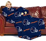 "NFL Chicago Bears Comfy Throw, Officially Licensed Blanket with Sleeves by Northwest ""Repeat"" Design"