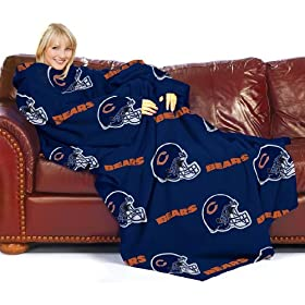Chicago Bears snuggie style throw blanket