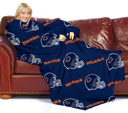 Chicago Bears NFL Adult Throw Blanket with Arms