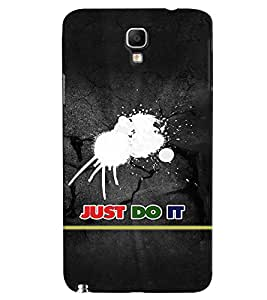 Fuson Premium Just Do It Printed Hard Plastic Back Case Cover for Samsung Galaxy Note 3 Neo N7505