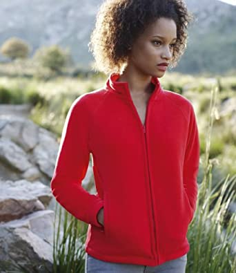 Fruit of the Loom Lady Fit Outdoor Fleece Jacket Red S