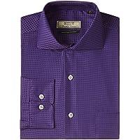 Arrow Men's Formal Shirt  (8907259021010_ASQF0082_39_Dark Purple)