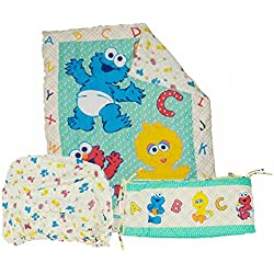 Sesame Beginnings 3 Piece Crib Bedding Set