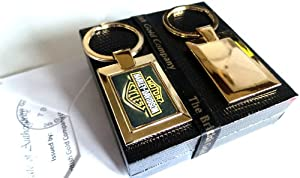 24K Gold Finished Luxury Harley Davidson Keyring Motorbike Fatboy Key Fob Keychain