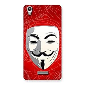 Special Red Anonymous Mask Back Case Cover for Lava-Pixel-V1