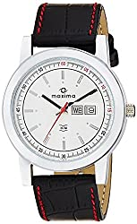 Maxima Attivo Analog White Dial Mens Watch - 21002LMGI