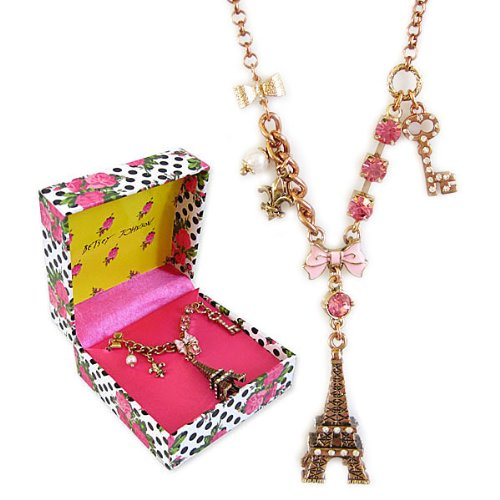Betsey Johnson GIFT BOXED Eiffel Tower 19.5