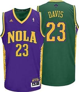 NBA adidas Anthony Davis New Orleans Hornets Mardi Gras Swingman Jersey - Purple... by adidas