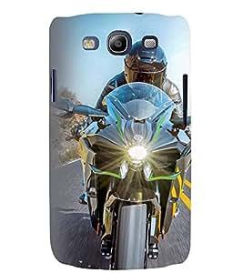 Printvisa Speeding Biker Back Case Cover for Samsung Galaxy S3::Samsung Galaxy S3 i9300