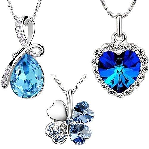 com-four-set-di-3-alla-moda-collana-color-argento-a-forma-di-quadrifoglio-cristallo-a-forma-di-cuore