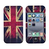 Euclid+ - British United Kingdom UK Flag Style Hard Case Cover for Apple iPhone 4 4s 4th 4g 4Generation with Euclid+ Cable Tie