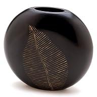 Gifts & Decor Artisan Carved Leaf Motif Decorative Vase