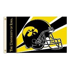 Buy NCAA Iowa Hawkeyes 3-by-5 Foot Flag with Grommets - Helmet Design by BSI