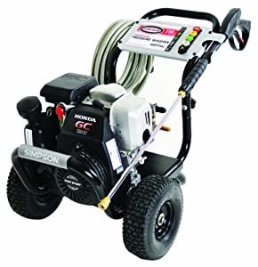 Simpson MSH3125-S MegaShot 3100 PSI 2.5 GPM Honda GC190 Engine Gas Pressure Washer