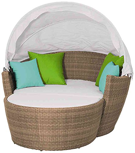Siena Garden 230877 Sofa-Set Hawaii Aluminium-Gestell Gardino®-Geflecht sand inkl. Kissen, verstellbares Dach