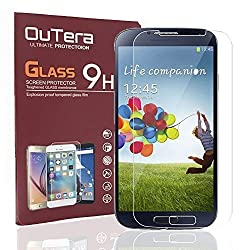 OuTera [2 Pack][Lifetime Warranty]SamSung S4 Screen Protector, 0.26mm 9H Tempered Glass Screen Protector for Samsung Galaxy S4 I337 I545 M919 I9500 L720