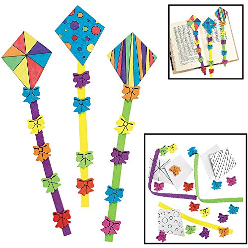 COLOR YOUR OWN KITE BOOKMARKS (1 DOZEN) - BULK