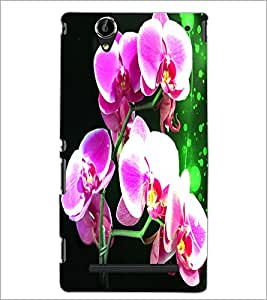 PrintDhaba Flowers D-3885 Back Case Cover for SONY XPERIA T2 ULTRA (Multi-Coloured)