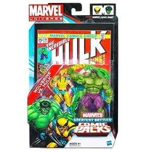 Marvel Universe Greatest Battles Action Figure Comic 2Pack - Wolverine vs Hulk