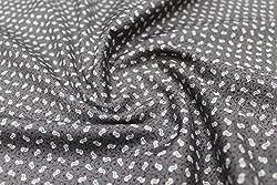 Mirza Fabrics Men's Shirt Fabric(Dark Grey)