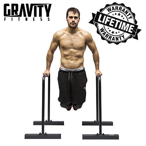 Gravity Fitness Parallettes per Crossfit, Calisthenics, peso, barre a caldo