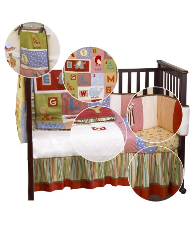 Cocalo Alphabet Soup Bedding Set (Cot/ Cot Bed, 5 pieces)