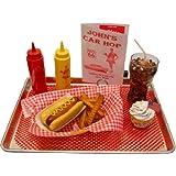 Hot Dog Fake Food Car Hop Tray