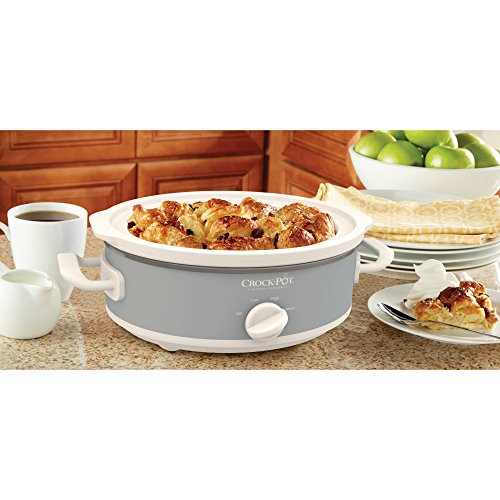 Crock-Pot Casserole Crock Mini Oval Slow Cooker, 2.5-Quart, Gray (Bella Dots Crock Pot compare prices)