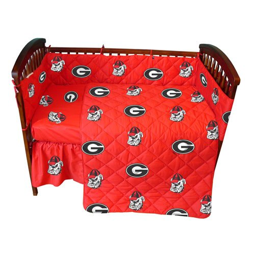 Georgia Baby Crib Fitted Sheet - Solid - Georgia Bulldogs front-1008757