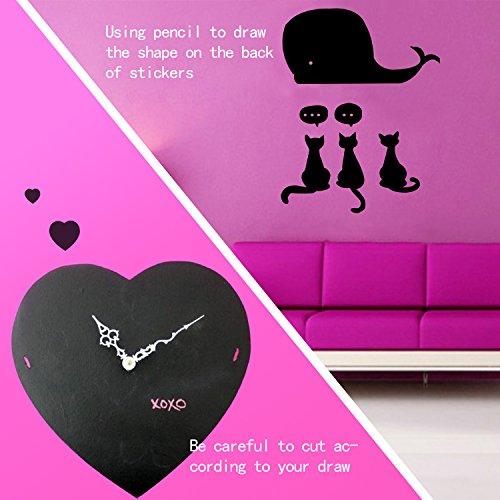 Stickers autocollant tableau noir ardoise par dighealth - Rouleau adhesif decoratif pour meuble ...