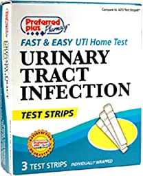 Preferred Plus Uti Urinary Tract Infection Test Strips, 3 Ea(Pack Of 5)
