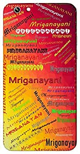 Mriganayani (One with deer like beautiful eyes) Name & Sign Printed All over customize & Personalized!! Protective back cover for your Smart Phone : Moto G-4-Plus
