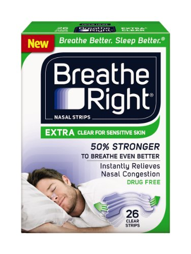 Breathe Right Extra Clear for Sensitive Skin,