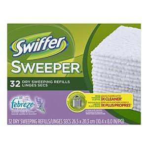 Swiffer Sweeper Dry Sweeping Cloths Mop And Broom Floor Cleaner Refills Febreze Lavender Vanilla & Comfort Scent 32 Count