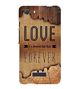 Love Forever 3D Hard Polycarbonate Designer Back Case Cover for MIcromax Canvas Unite 3 Q372
